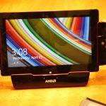 Tablet dengan APU Mullins dengan gamepad