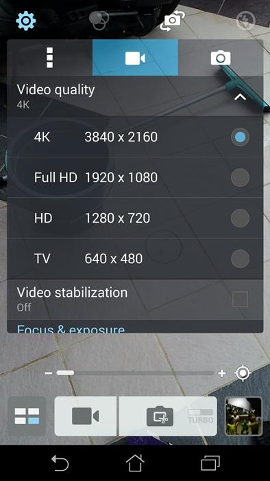 Kemampuan rekam video hingga resolusi 4K