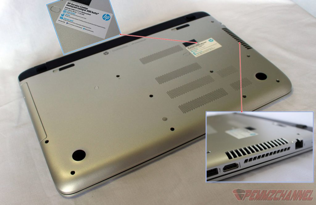 HP Pavilion 15 P229AX bottom cover