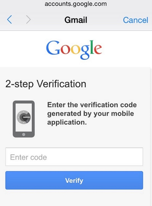 ios 8.3 Google Verification