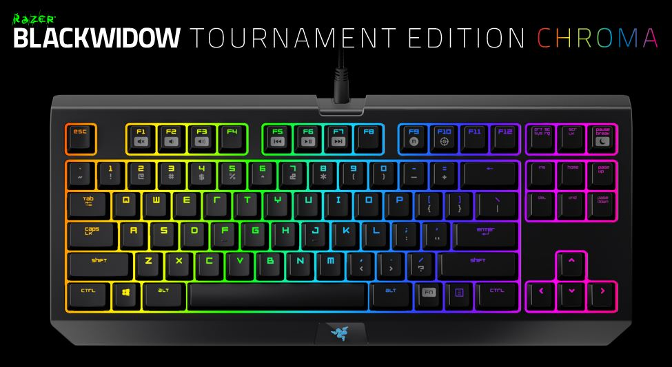 Razer Blackwidow Tournament Edition Chroma Keyboard