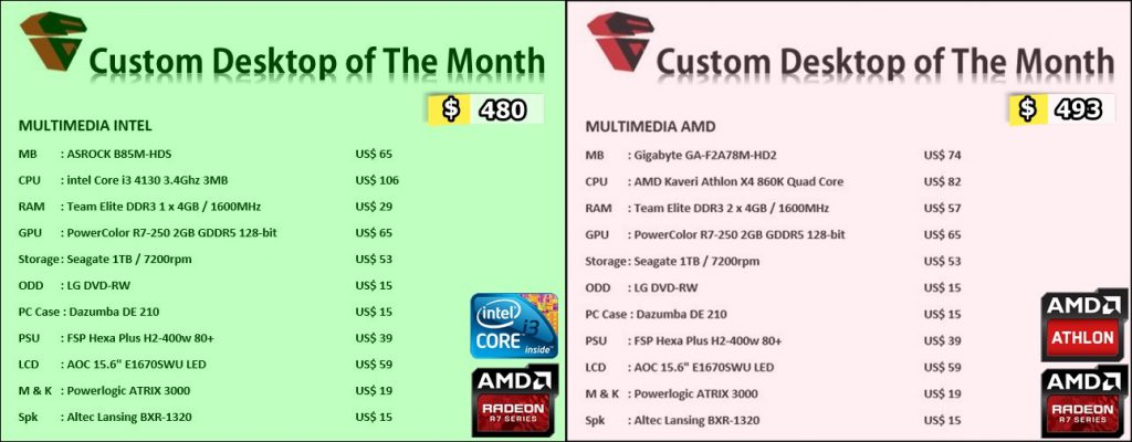 Desktop PC Custom Multimedia April 2015