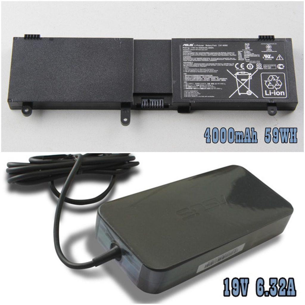 Battery dan Power Adaptor ROG G550JX