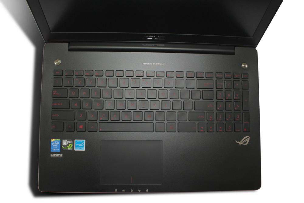 Desain dan tata letak Workstation ASUS ROG G550JX