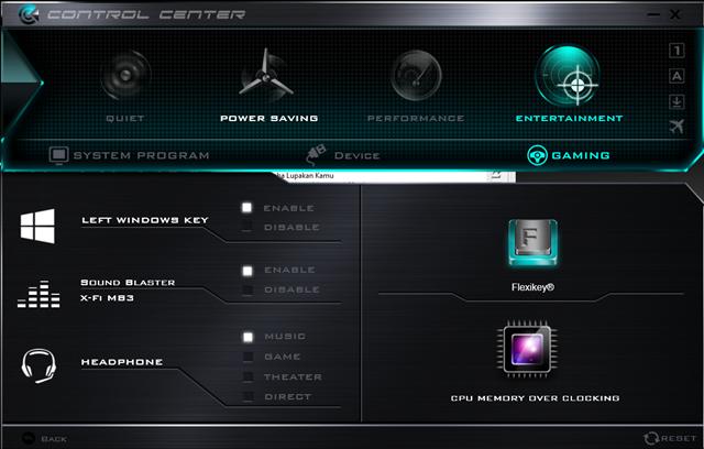 Pusat kontrol untuk ke beberapa aplikasi
