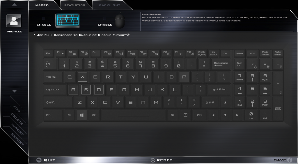 Fitur FlexiKey pada Xenom Hercules untuk pengaturan warna backlit keyboard
