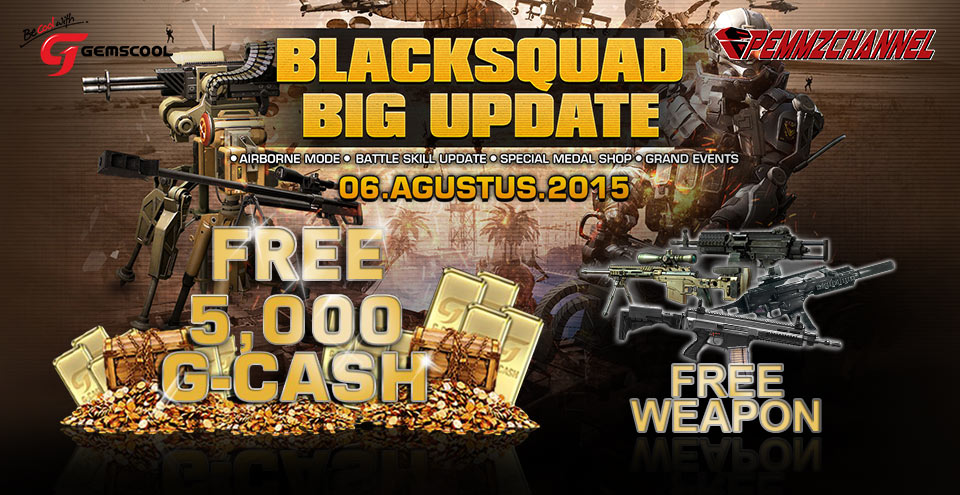 Black Squad big update, free g cash weapon