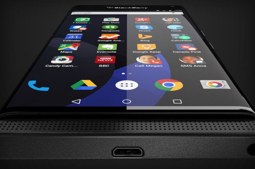 Android Blackberry Venice Display
