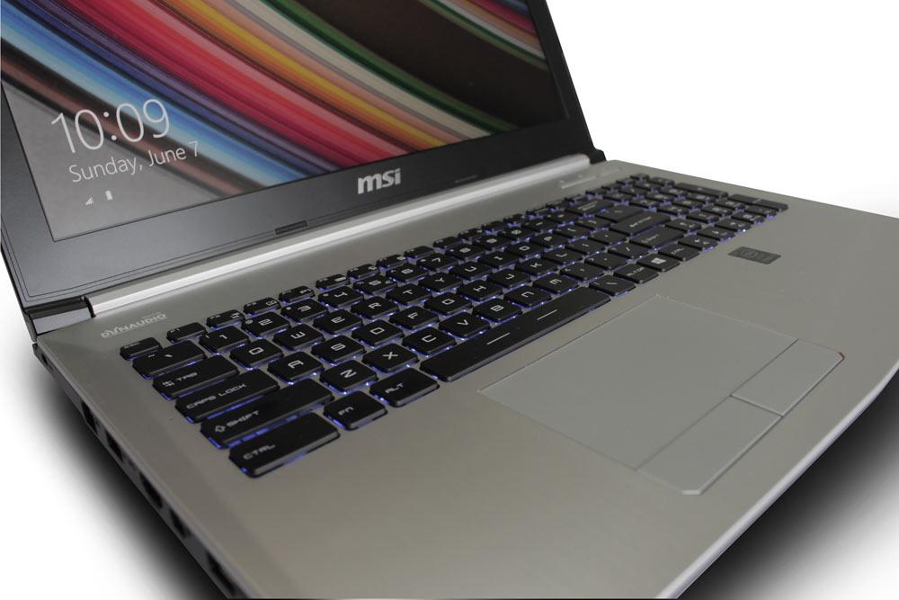 Keyboard dan touchpad MSI PE60, sama dengan GE series, beda warna backlit