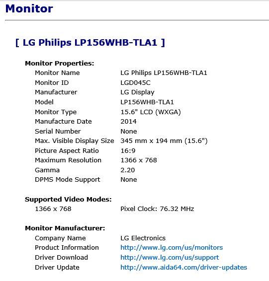 Merk dan type panel LCD Asus X550ZE