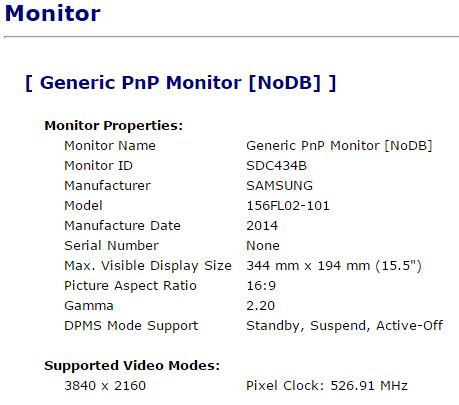 Asus N501JW 4K display Panel