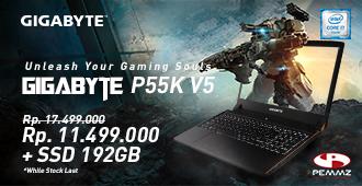 promo laptop Gigabyte P55K V5
