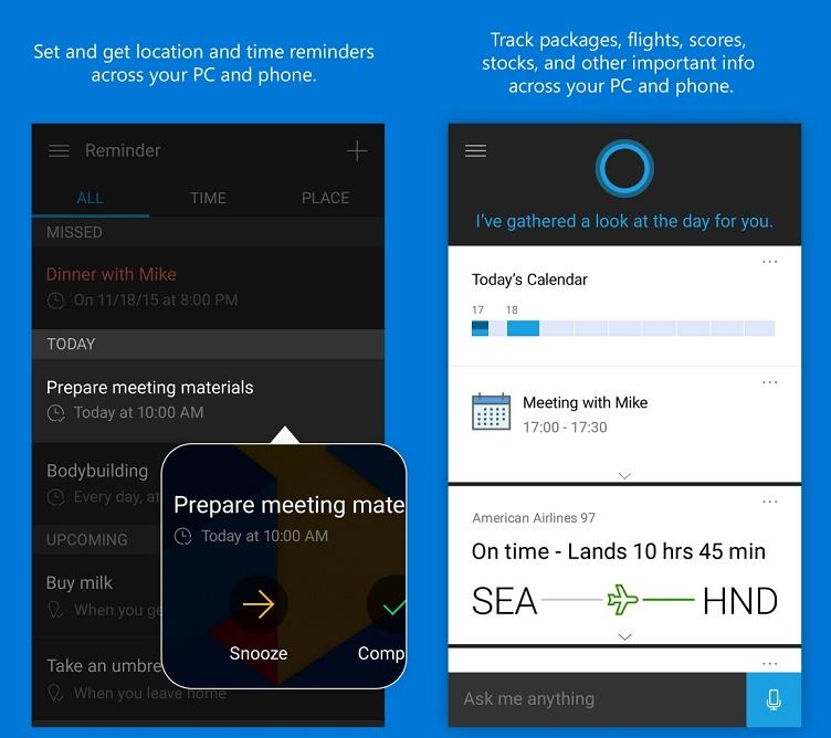 Cortana untuk android ios iphone