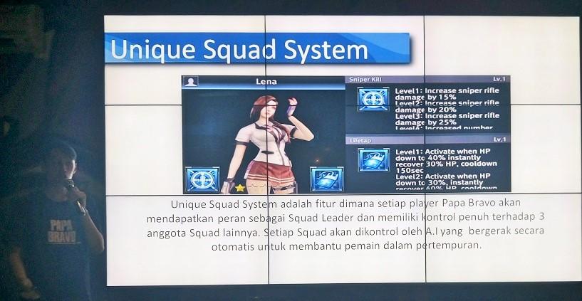 Squad system Papa bravo PB