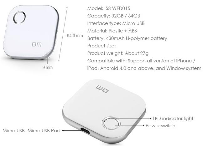 Spesifikasi DM S3 WFD015