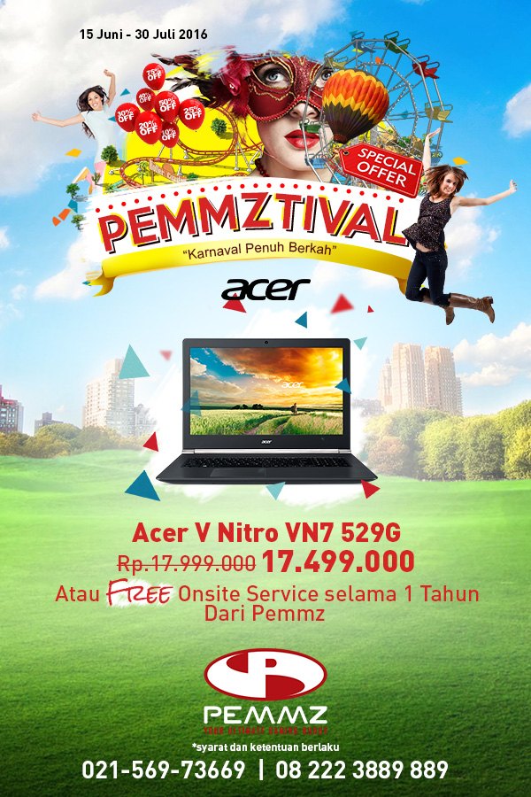 Banner Acer V Nitro Pemmztival 2016