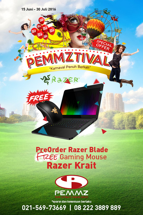 Banner PreOrder Razer Blade Pemmztival 2016