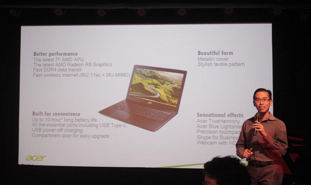 Launching Acer E5-553G dengan 3 pilihan AMD APU 7th Gen Bristol Ridge