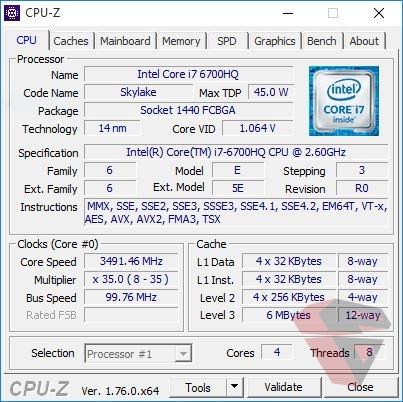 Asus X550VX CPU Z
