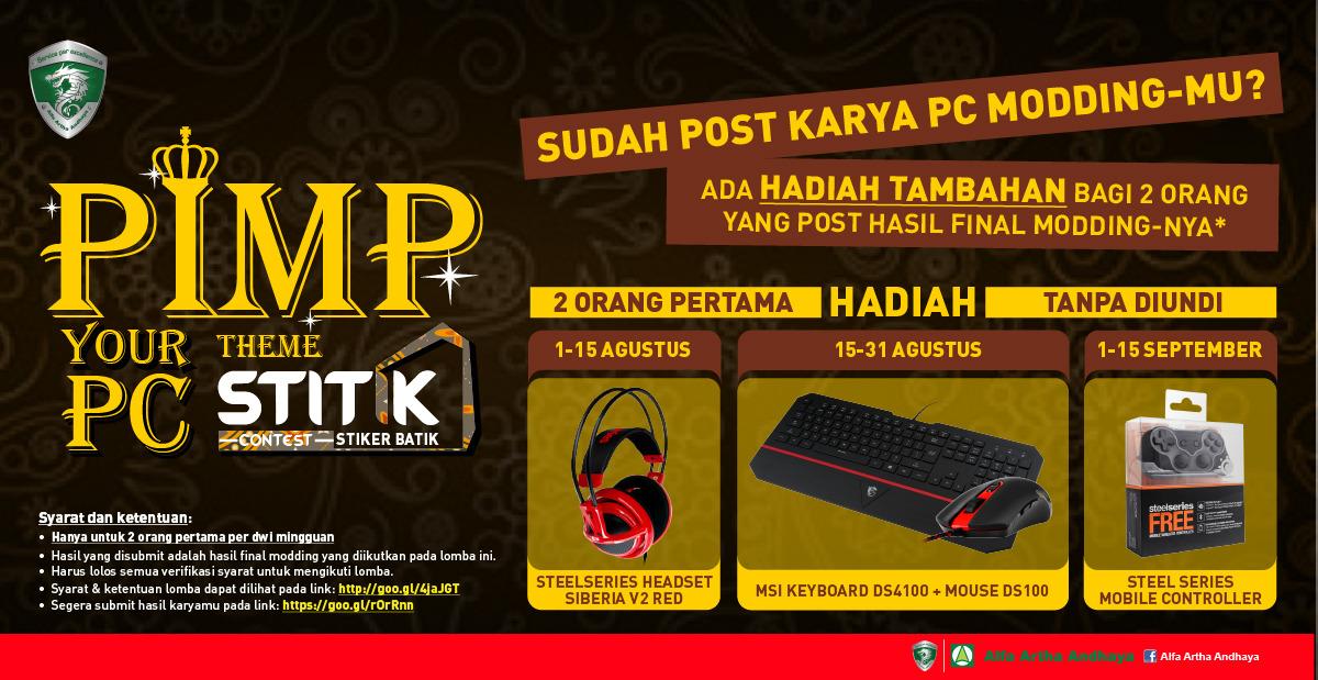 Poster PIMP your PC STITIK Contest price