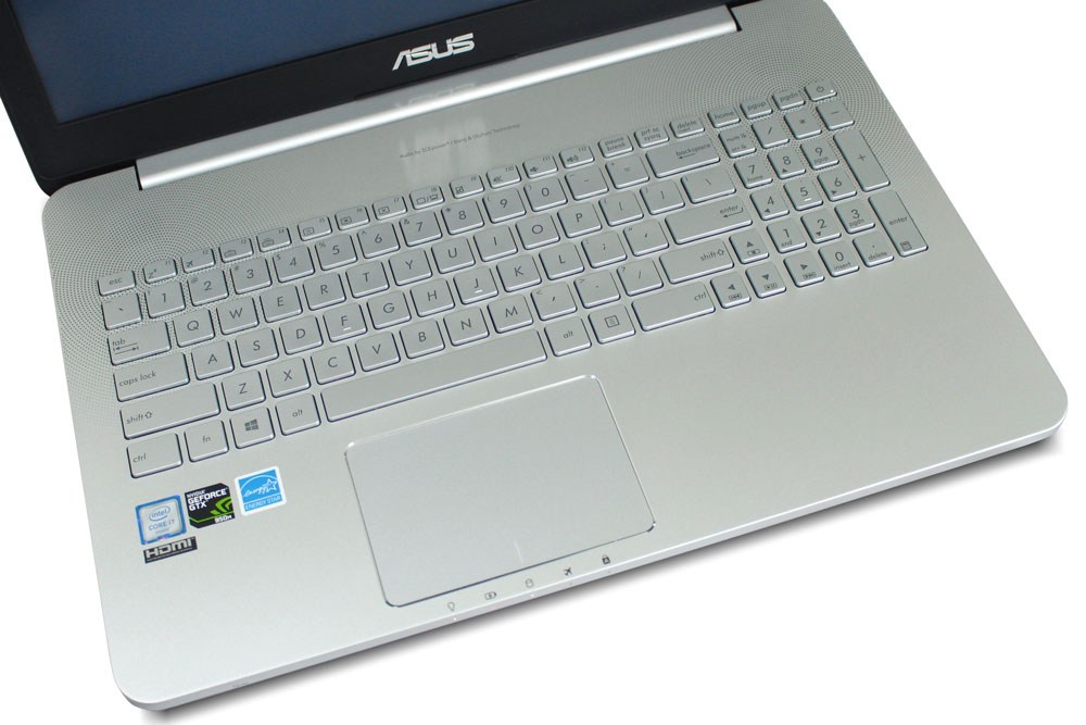 Review Asus N552VX - keyboard and touchpad