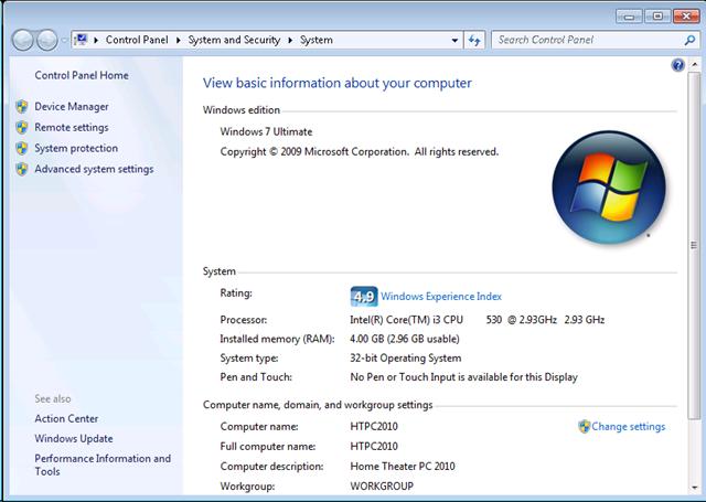 Informasi PC Intel Core i3