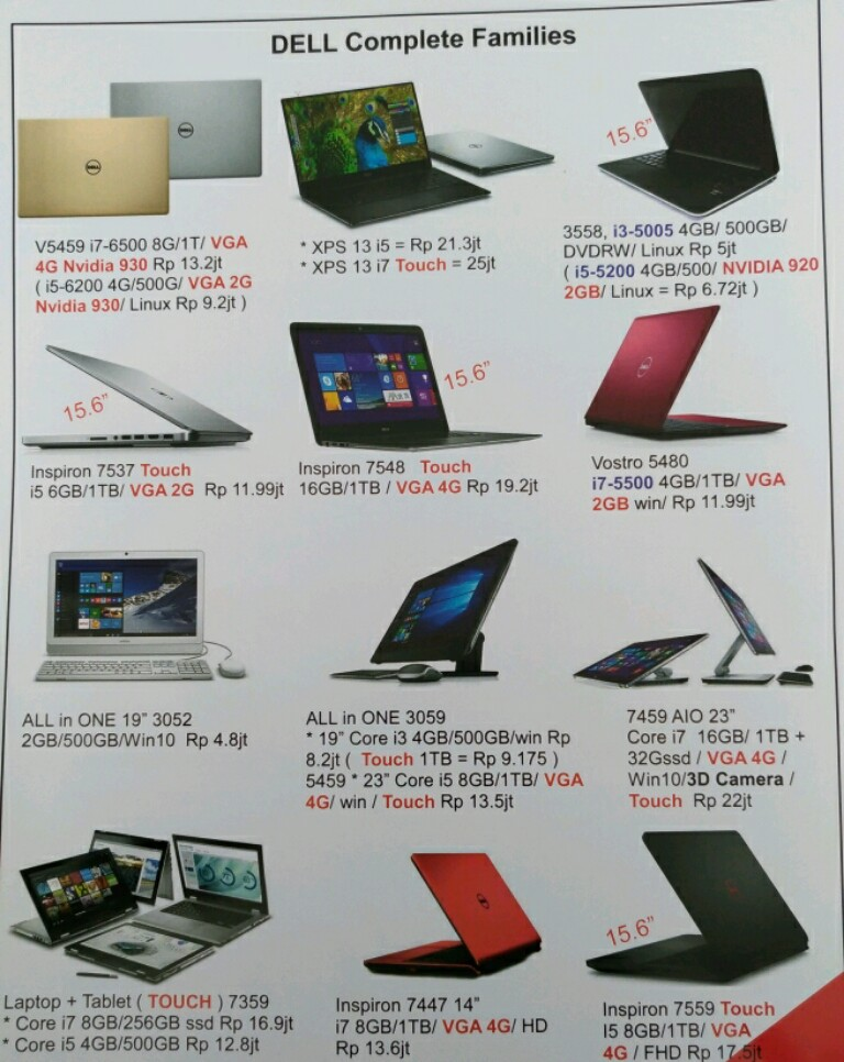 Promo laptop dell indocomtech 2016