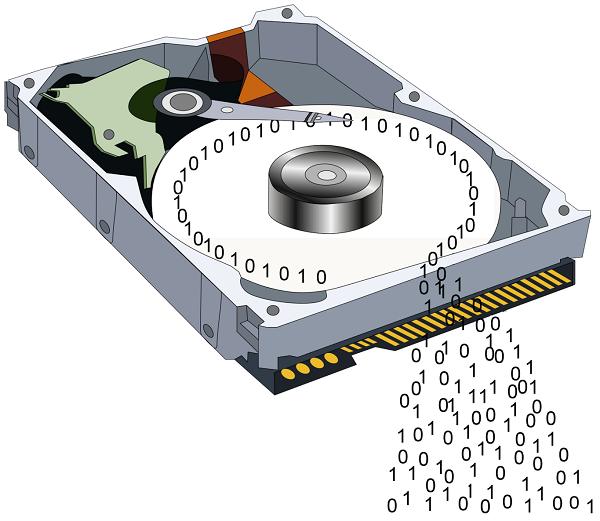 Data yang disimpan di dalam Hard Disk (ilustrasi)