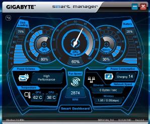 Gigabyte P34K V5 dashboard