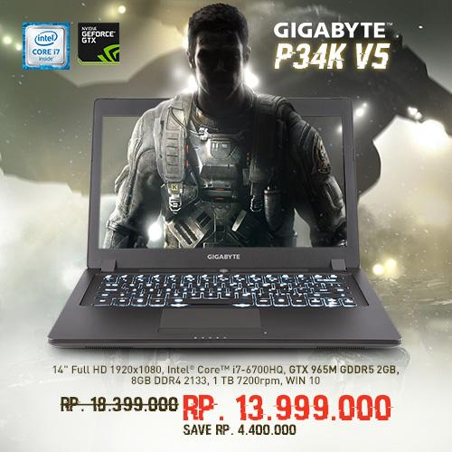 promo gigabyte p34k v5 pemmz
