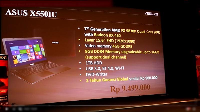 Review Asus X550IU Spesifikasi