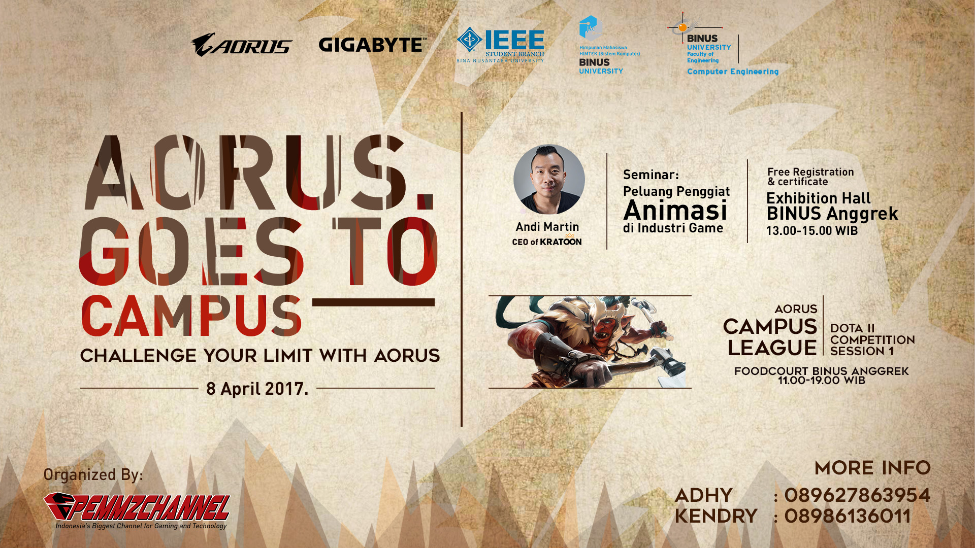 Aorus goes to campus pemmzchannel