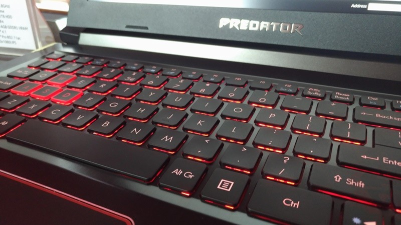 Predator Helios 300 Keyboard