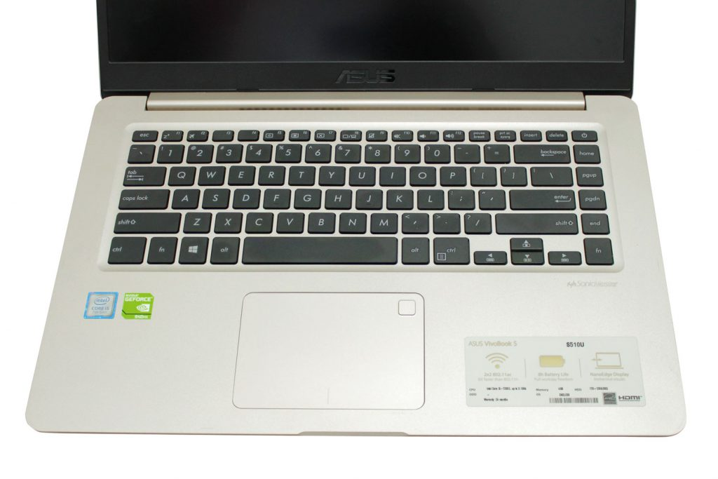 review Asus Vivobook S15 S510UQ Keyboard and touchpad PEMMZ