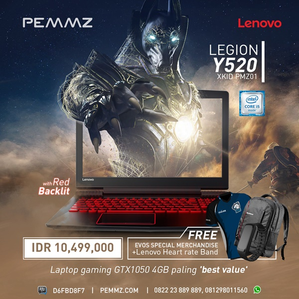 Promo Lenovo Legion Y520 i5 Backlit