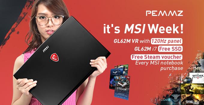 promo MSI GL62m VR 120Hz pemmz
