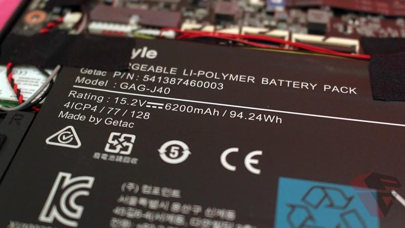 Gigabyte Aero 14K V7 battery Test