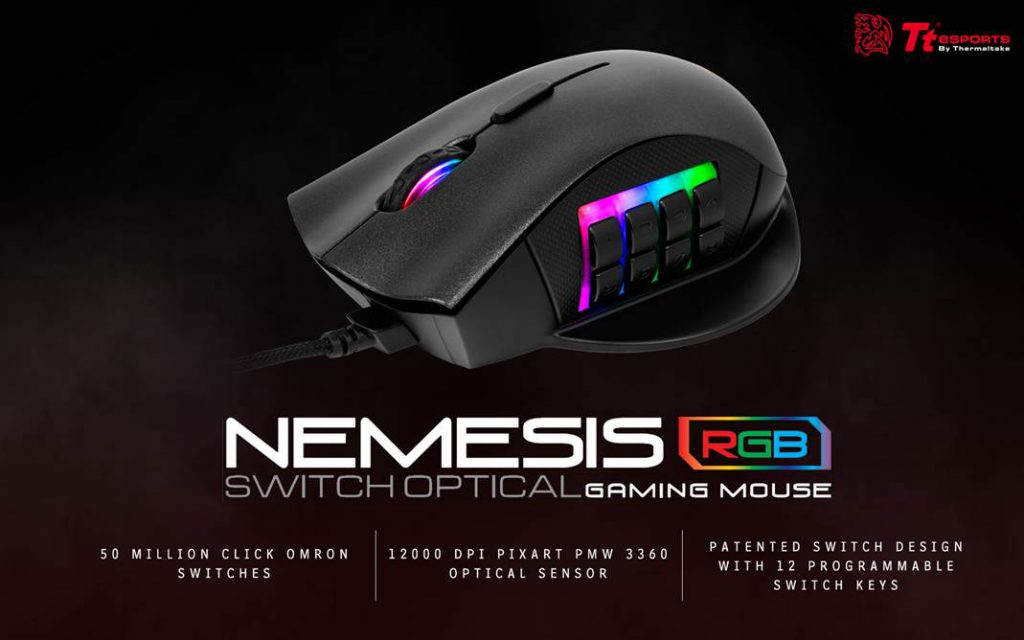 Tt eSPORTS NEMESIS Switch Optical RGB Gaming Mouse Indonesia Tt eSPORTS NEMESIS Switch Optical RGB Gaming Mouse Indonesia Feature