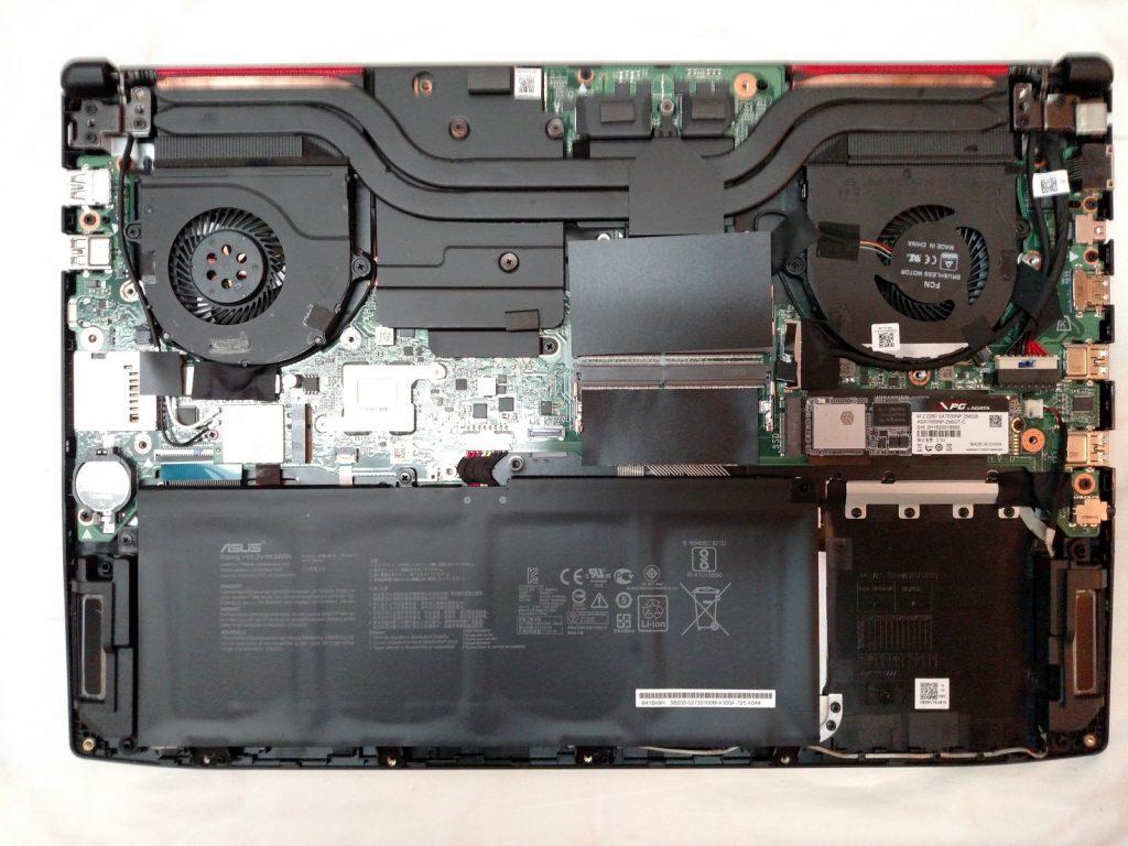 Asus ROG Strix GL503VD Hero Edition Cooling setup