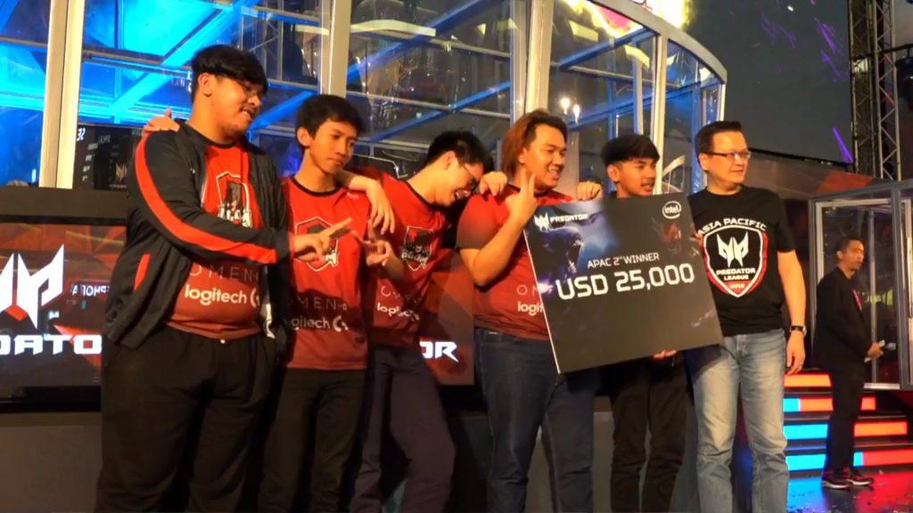 Boom ID Runner UP APAC Predator League 2018 indonesia