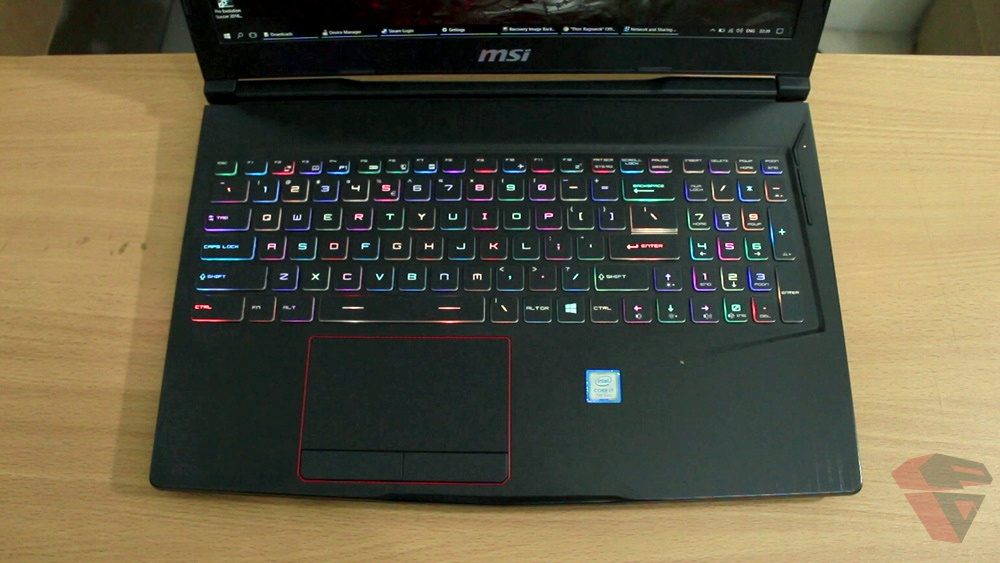 MSI GE63VR 7RFX Raider Pro workstation