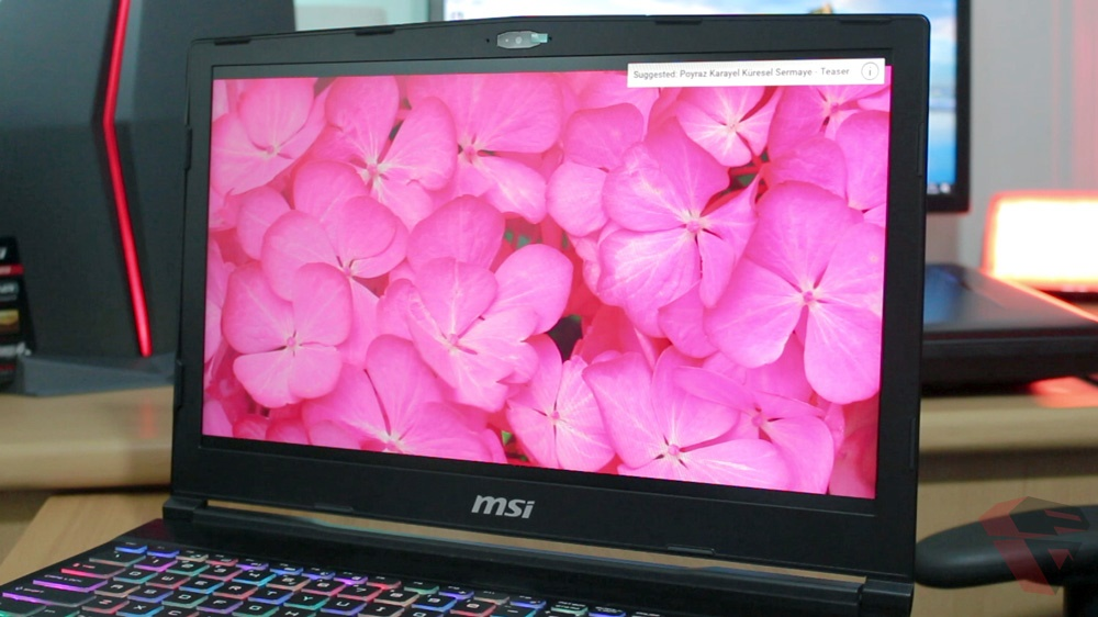 MSI GE63VR 7RFX Raider Pro display panel