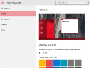 Atur warna Start Menu