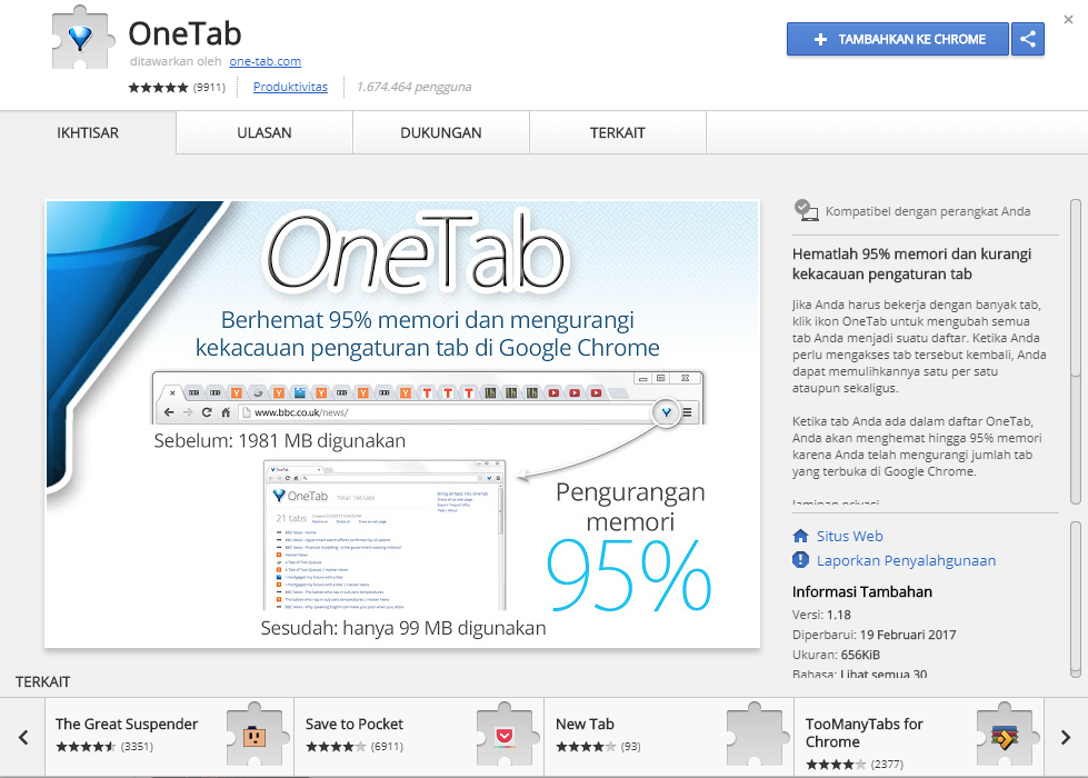 One Tab Chrome