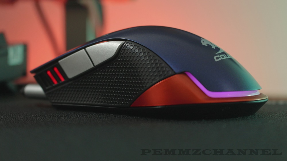 Review Cougar 550M Gaming Mouse Anti Slip Flanks