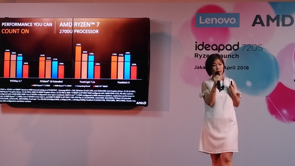 Launching Lenovo Ideapad 720s Ryzen - Armawati Chen - AMD Indonesia BDM