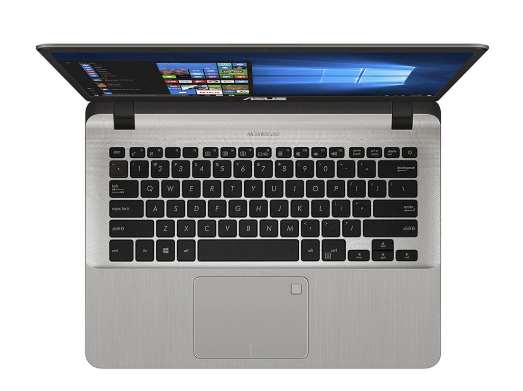 Asus vivobook A407U - Workstation open