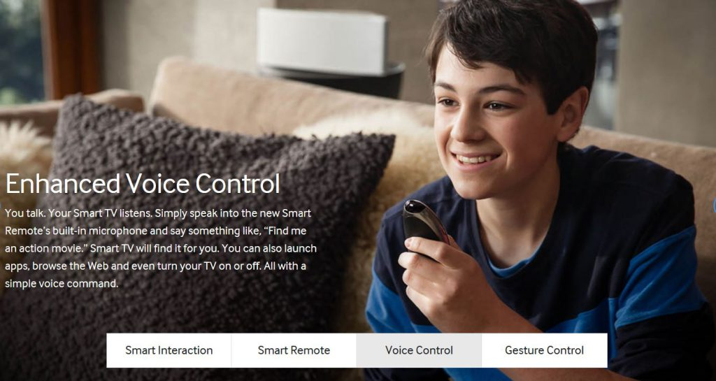 Samsung Smart TV Voice Search