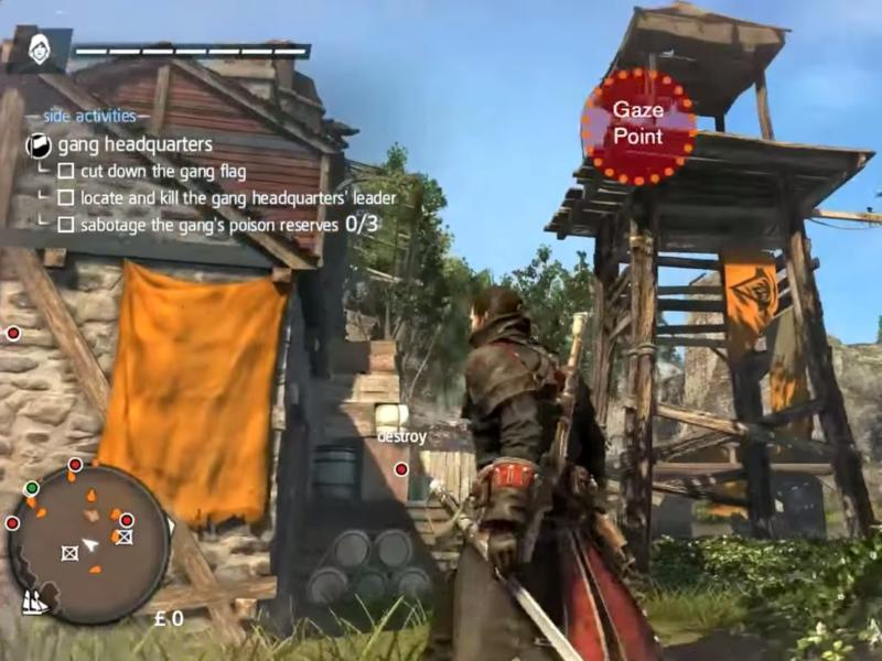 Assassin Creed Rogue dengan Eye Tracking