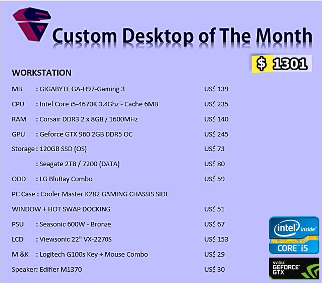 Desktop PC Custom Workstation 0415
